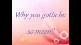 Taylor Swift Mean Lyrics