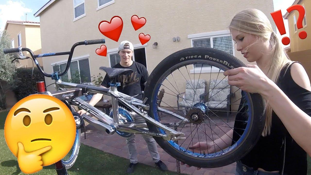 Bmx Girlfriend Bike Build Challenge Youtube