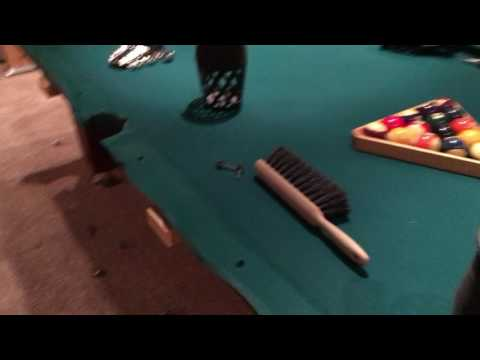 Take apart a pool table (or putting it together) - Video 4 of 9 - Wrapping up the rails