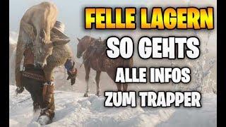 Red Dead Redemption 2: Tierhäute & Felle LAGERN - Das müsst ihr beachten | Trapper & Hehler Tipps