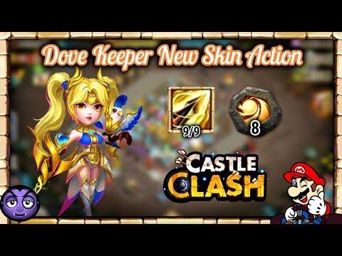 CASTLE CLASH | Dove Keeper New Skin | Resistive?