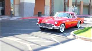 Jenny B Cruisin a Sweet 57 Ford T Bird with a Big Block Chevy 588 ci