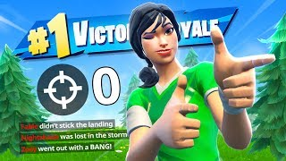 HOW TO WIN A GAME WITH NO KILLS ON FORTNITE.. (is this CHEATING?)