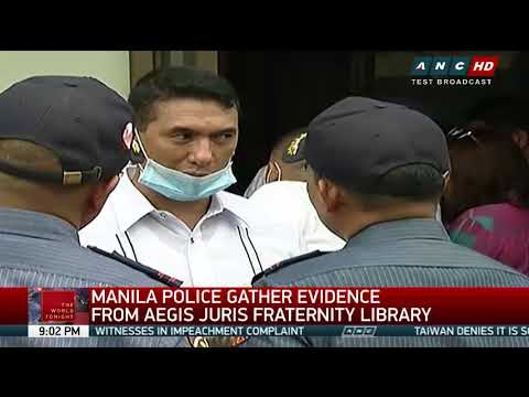 Manila cops gather evidence from fraternity library