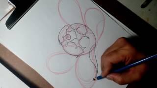 How to draw peony ( วาดดอกโบตั๋น )