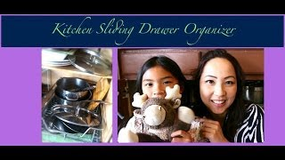 An Organized Home: Kitchen Sliding Cabinet Organizer  {how To Organize}