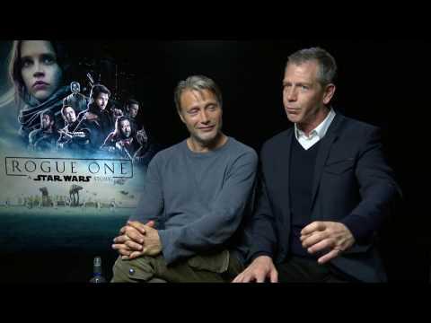 Mads Mikkelsen & Ben Mendelsohn Interview ROGUE ONE - drunk in Iceland - funny story