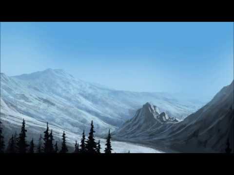 Photoshop Fantasy Landscape Speedpaint Mountains