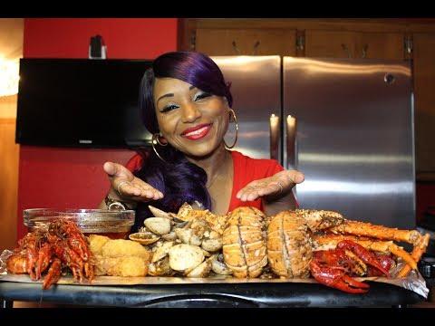 Seafood Boil 7⚠ Smacking NoisesMessy EatingCrawfishClamsKing CrabLobsterShrimp