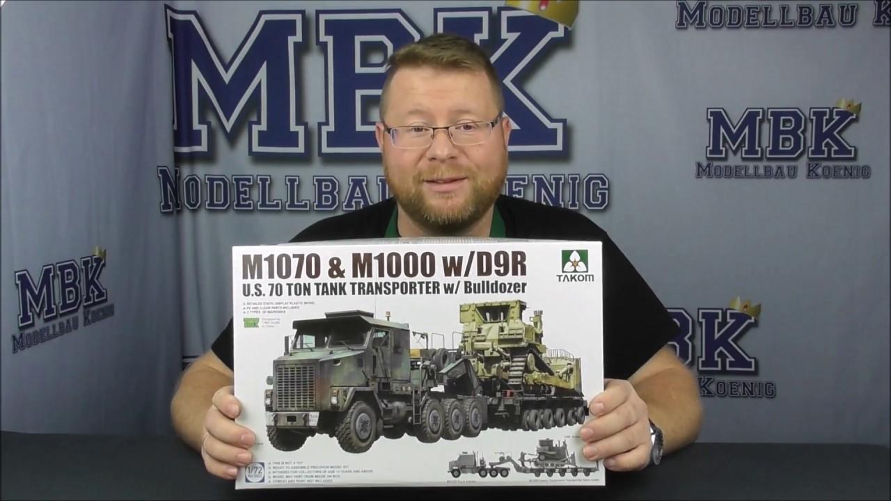 TAKOM # 5002 1/72 M1070 & M1000 W/D9 — Hell On Wheels - AMPS