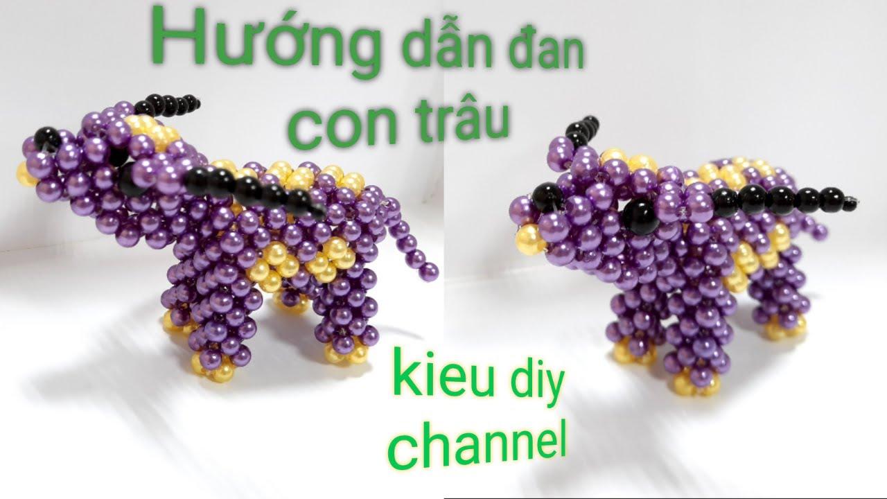 Cách đan con trâu hạt cườm/KIEU DIY/tutorial beaded bead a buffalo/part 1÷2