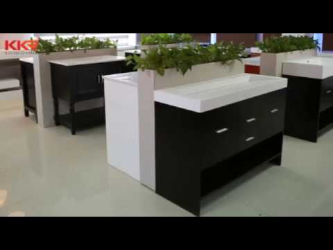 KKR Solid Surface Sanitary Ware Wash Basins with Cabinet Wholesale Suppliers Online