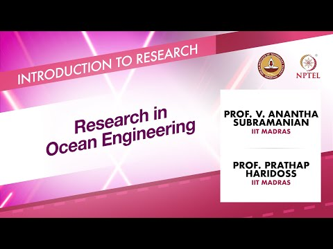 Research in Ocean Engineering