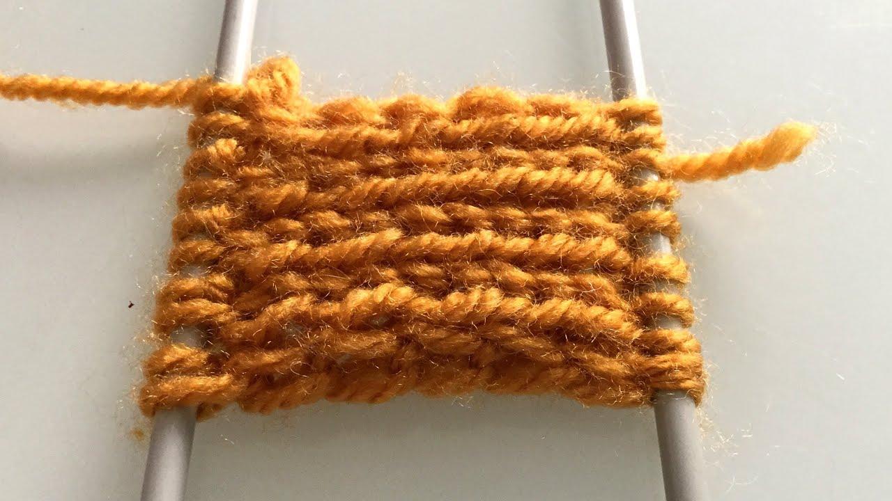 Zıt Yöne Örülen Lastik Örgü Yapımı — Knitting Pattern