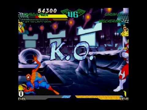Marvel Super Heroes Vs Street Fighter Sega Saturn Gameplay Wmv