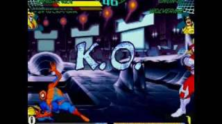 Marvel Super Heroes Vs Street Fighter . Sega Saturn . Gameplay.wmv