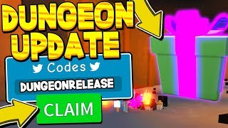 CLEARING NEW DUNGEON + CODES IN UNBOXING SIMULATOR! Roblox *THIS IS INSANE*