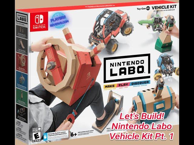 Let's Create! Nintendo Labo Vehicle Kit Part 1 (Pedal)