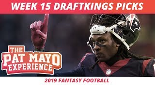 2019 Fantasy Football Rankings — NFL Week 15 DraftKings Picks, Predictions, Preview, Sleepers