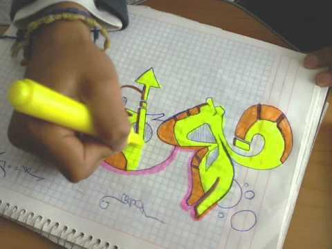 graffiti en cuaderno