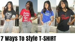 How to Look GOOD In Just TSHIRT and JEANS Hacks ||7 Ways To Style TShirt