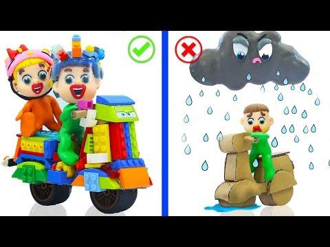 SUPERHERO BABY BUILDS LEGO SPORTBIKE 💖 Stop Motion Cartoons Animation