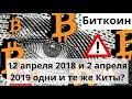 Биткоин. 12 апреля 2018 и 2 апреля 2019 одни и те же Киты? Bitcoin SV делистинг с Binance? Курс BTC