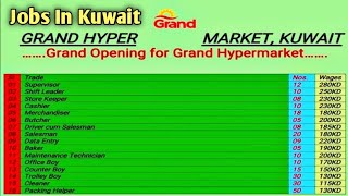 Jobs In Kuwait 2020 || Grand Hypermarket || High Salary Jobs || By Gulf Job Requirement