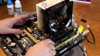 how to install a Cooler master hyper 212 evo on Intel 1151