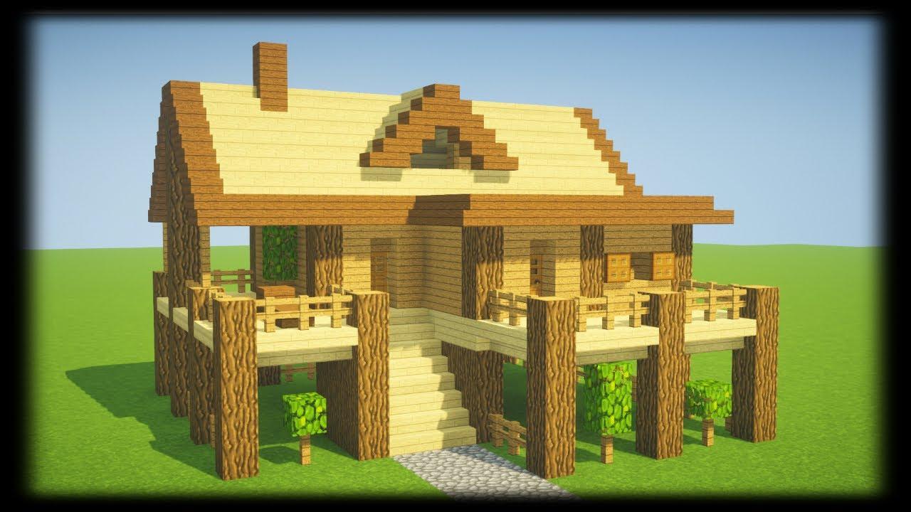 Tuto Petite Maison De Survie En Bois Facile A Faire Minecraft Youtube