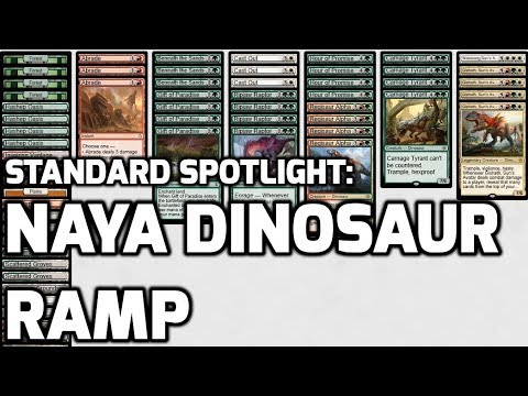 Standard Spotlight: Naya Dinosaur Ramp (Deck Tech & Matches)