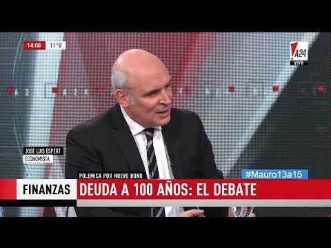 """José Luis Espert en """"Más que noticias"""" con M.Viale, por """"A24"""" el 21 de Junio de 2017"""