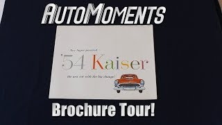 Reading a 1954 Kaiser Car Sales Brochure
