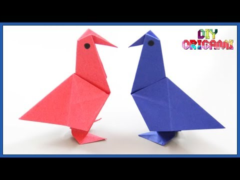 How To Make An Origami Paper Bird - DIY Paper Bird