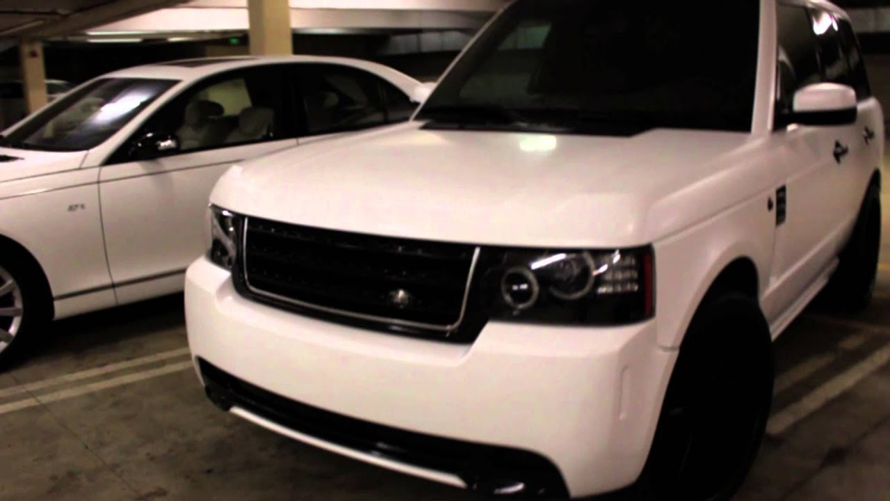 Project Range Rover Customied Amp Wrapped In Satin White By