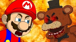 Repeat youtube video MARIO VS FREDDY - Five Nights At Freddy's Animation Parody