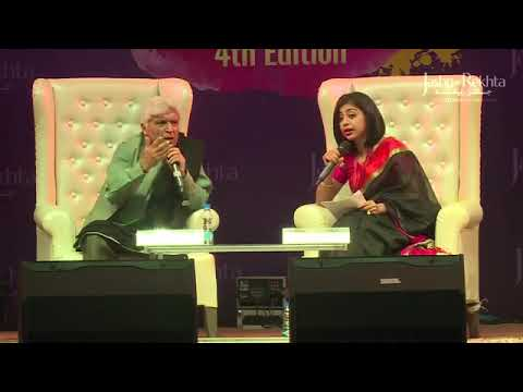 Javed Akhtar with Atiqa Ahmed Farooqui at Jashn-e-Rehkta 2017 - Short Clip