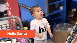 Baby Likes Inflatable Santa