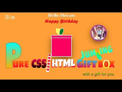 Pure CSS + HTML Gift Box With Amazing Surprise