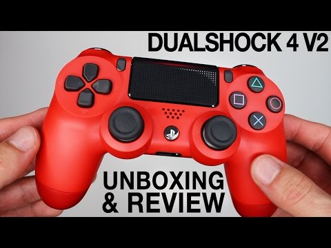 new-sony-dualshock-4-v2-controllers-unboxing!-magma-red-&-black