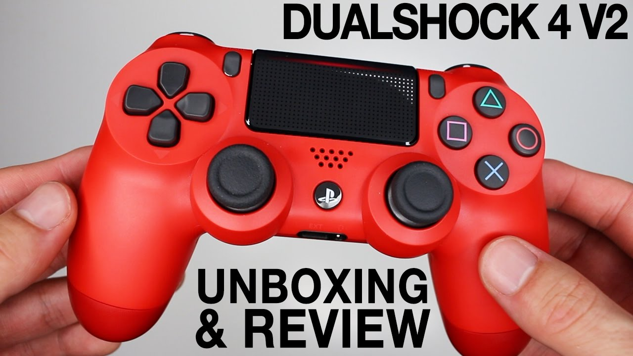 New Sony Dualshock 4 V2 Controllers Unboxing Magma Red