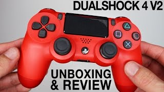 NEW Sony Dualshock 4 V2 Controllers Unboxing! Magma Red & Black