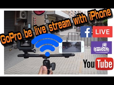 GoPro live streaming comparsion between WI-FI and HDMI connect with iPhone