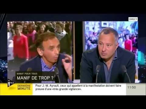Débat Zemmour/Askolovitch sur la Manif Pour Tous du 26 Mai (25/05/13, I-TELE)