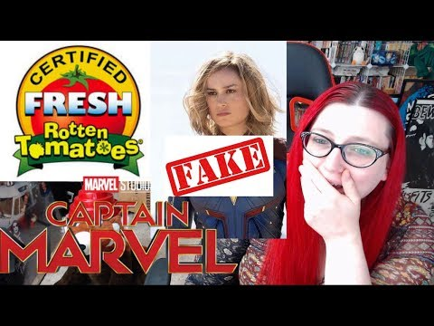 CAPTAIN MARVELS HILARIOUS EARLY ROTTEN TOMATOES  BOT SCORES