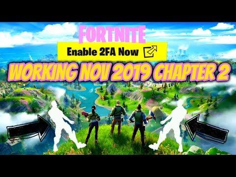 Fortnite Enable 2FA Working Nov 2019 Chapter 2 (FREE EMOTE)