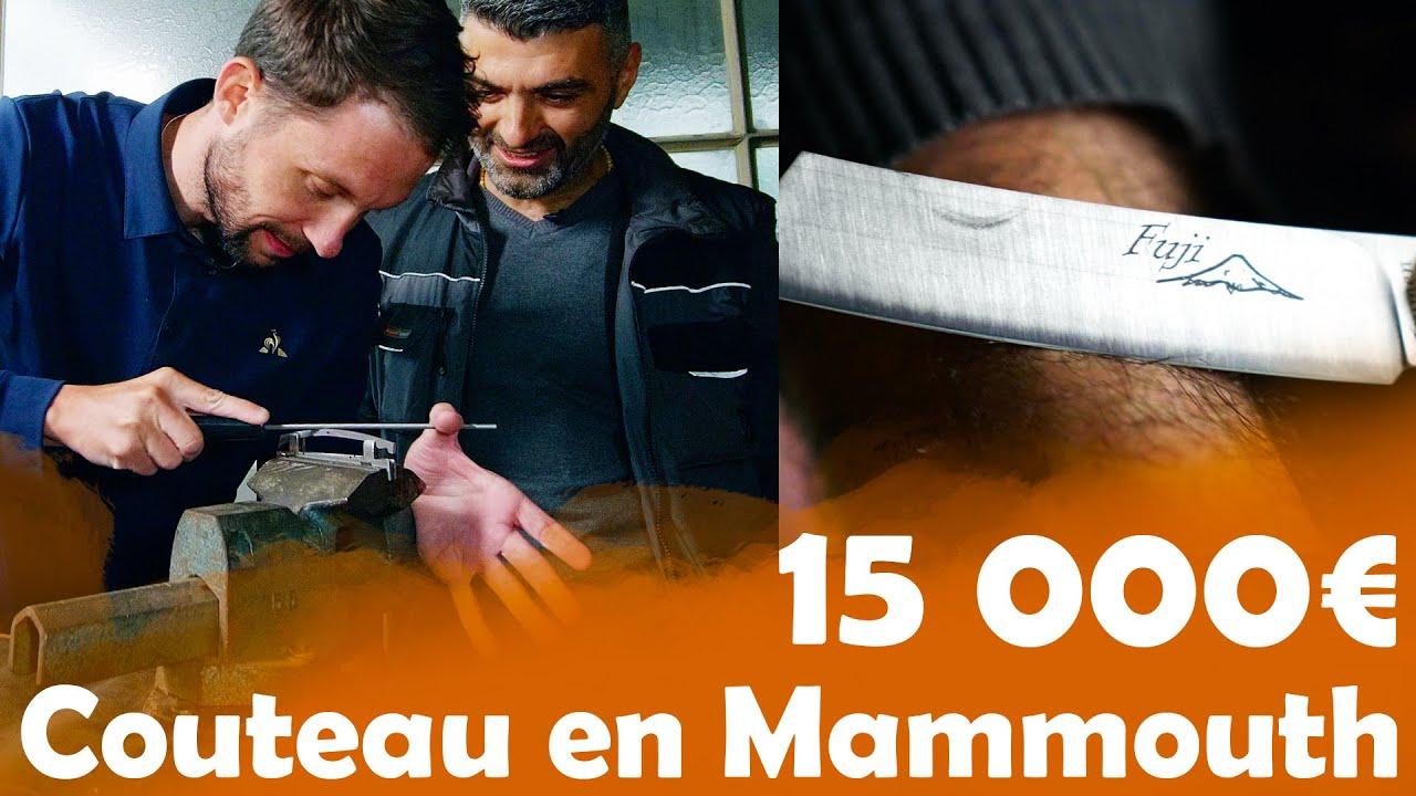 Couteau à 0,25cts VS Couteau à 15 000€ en dent de Mammouth !!!