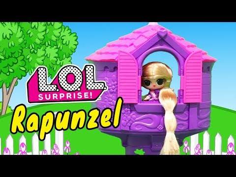 Rapunzel Story ! Toys and Dolls Fun for Kids Playing with LOL Surprise Custom Doll