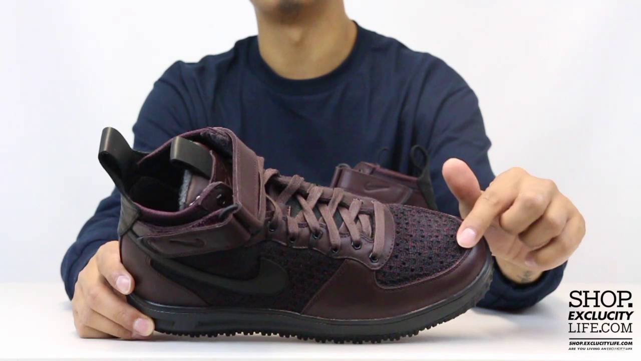 timeless design 97339 e1804 ... Nike Lunar Force 1 Flyknit Deep Burghandy Unboxing Video at Exclucity -  YouTube