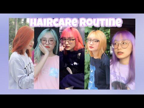 MY HAIRCARE ROUTINE | Chăm Sóc Tóc Tẩy Cực Đơn Giản | Miha Chan